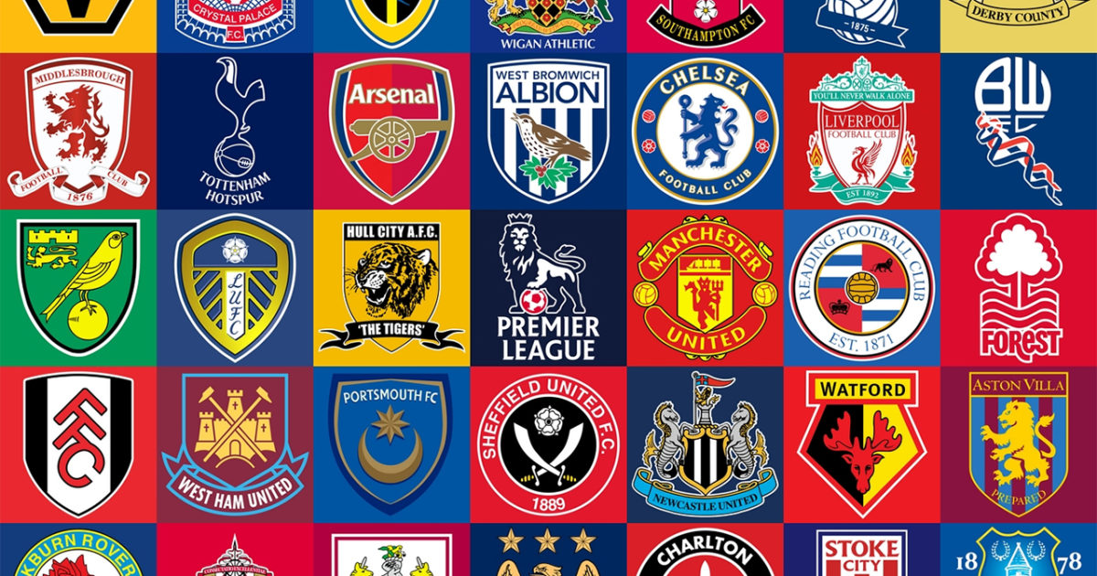 British Premier League Team Logos
