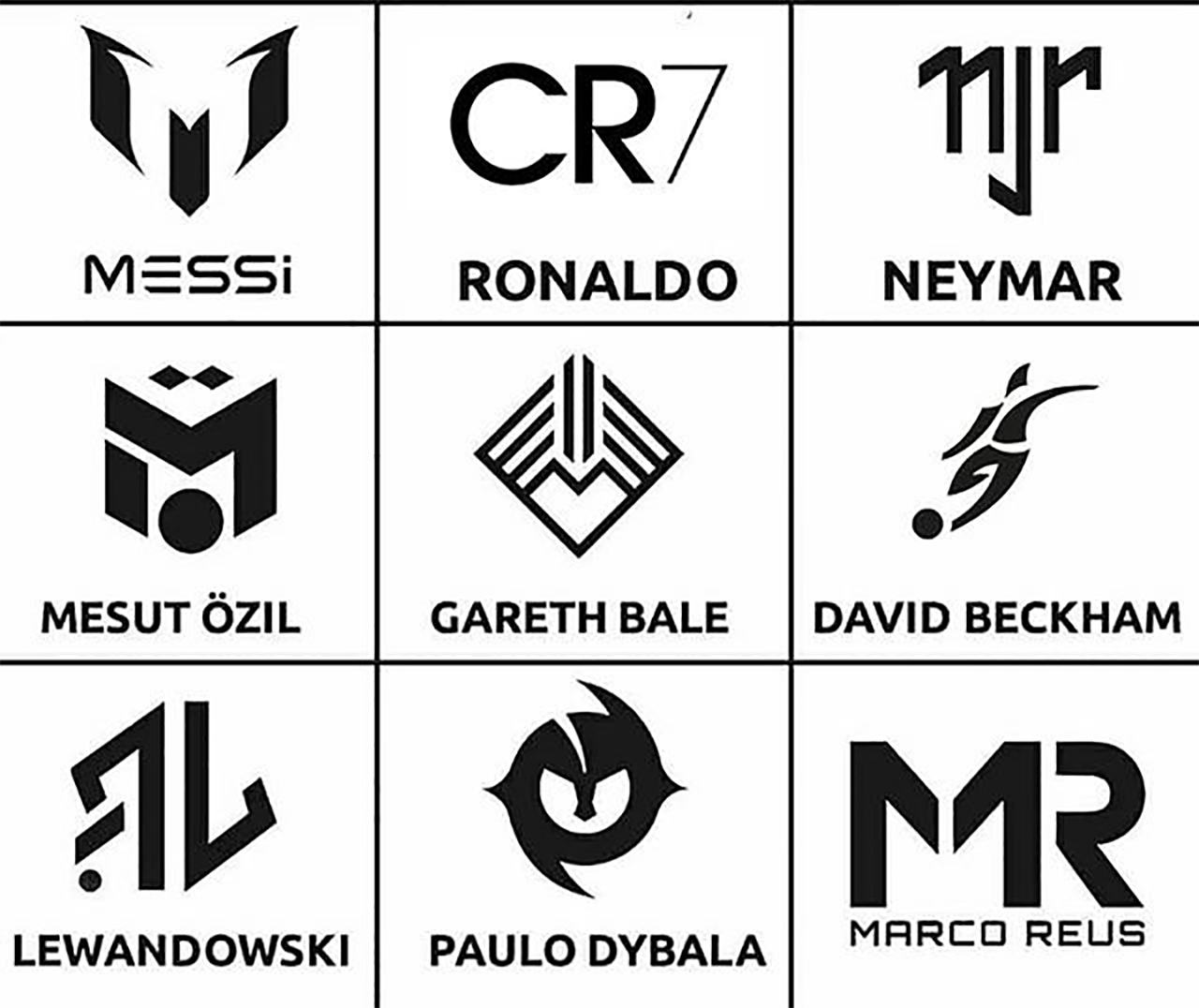 Today's Soccer Superstar Players Have Logos Too